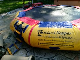 13 ft island hopper water trampoline