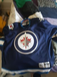 Jets jersey no name no number size large  Victoria, V9A 4M9