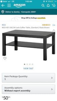 Black coffee table Charlotte, 28262