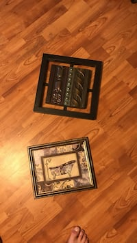 two square black and brown metal photo frames Wentzville, 63385