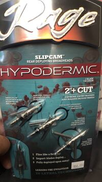 Rage hypodermic broadheads or trade for anything else to do with archery Abbotsford, V2T 4G3