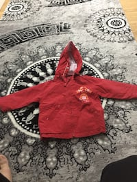 Toddlers röda zip-up hoodie Eskilstuna, 632 25