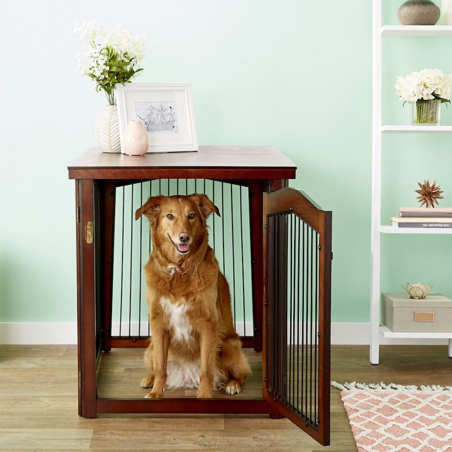 Large Furniture dog crate wooden