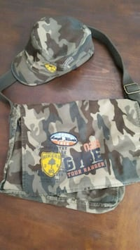 Children's Place Camo Messenger Bag and Hat Rio Rancho