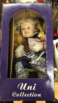 Collectable Doll with Teddy Bear null