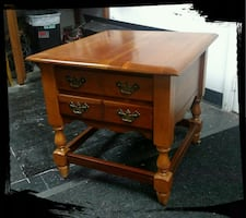 Cherry End Table/Nightstand / Solid Wood Nightstand