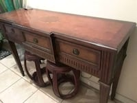 brown wooden single pedestal desk Santa Barbara, 93101
