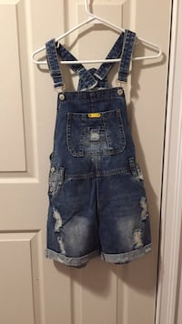 Blue denim distressed overalls  Toronto, M2J 3A5