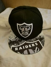 black and white Oakland Raiders cap Honolulu, 96814