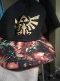black and red Link baseball cap
