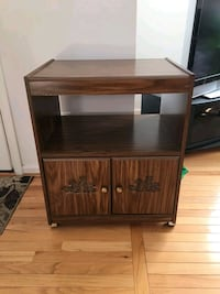 brown wooden TV stand with cabinet Woodbridge, 22193