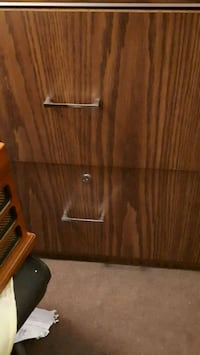 brown wooden 2-drawer chest St. Catharines, L2M 4G1