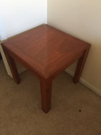 square brown wooden coffee table