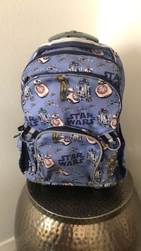 Pottery Barn Kids Star Wars All Over Rolling Backpack Indio, 92203
