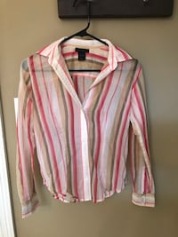 white and pink striped dress shirt Ocean Springs, 39564