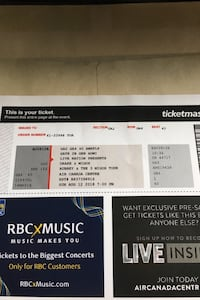 Drake x Migos Floor Seats August 22nd  Markham, L3P 6E2