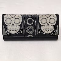 black and white leather wallet Orange, 92868