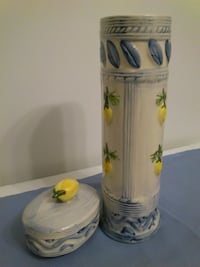 Vintage Ceramic Spaghetti Canister