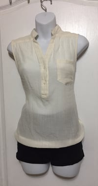 White Sheer Top: Size Large