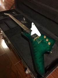 green and black electric guitar Brampton, L6R