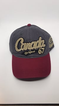 Canada gray and red fitted cap Toronto, M1H 3G5