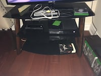 black wooden TV stand with mount Toronto, M6G