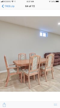 Wood kitchen table and 6 chairs Vaughan, L4L 8E1