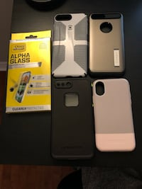iPhone X, 8 plus, 7 plus cases and screen protector  Brampton, L6P 2A4
