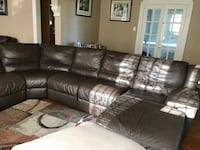 black leather sectional recliner sofa New Orleans, 70119