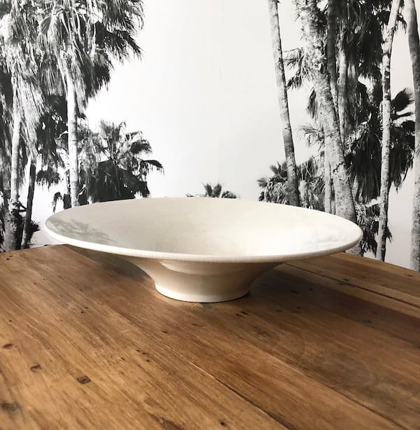 "IKEA Ceramic Creamy White Coffee Table Large Bowl 14"" cc48d341-09fd-47f9-a348-e6a1006b4723"
