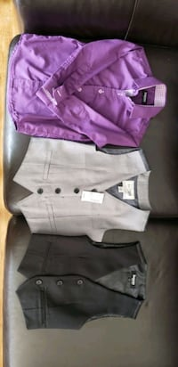 Dress shirt and vest combo
