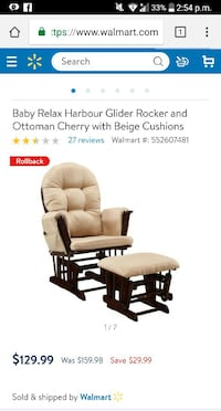 brown wooden framed brown leather padded glider chair screenshot El Paso, 79936