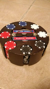 Poker chips and carousel whit 36 chips for 4 different color and 2 car Toronto, M6P 4H9