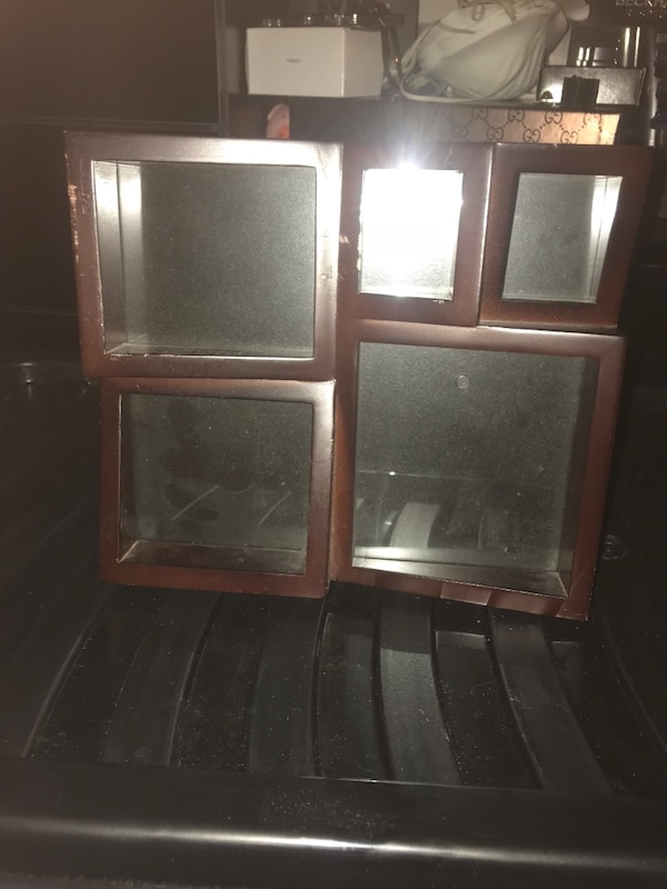 Used Two Brown Wooden Framed Glass Panel Doors For Sale In Croydon