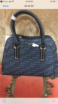 blue and black Michael Kors tote bag Sterling Heights, 48310