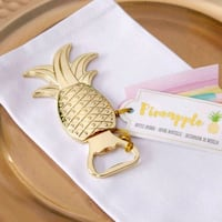 Gold pineapple bottle openers