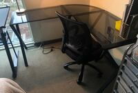 Glass corner desk with a free chair Portland, 97209