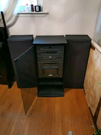 black and grey sharp stereo system Brampton, L6T 2S7
