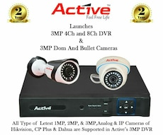 Active 3MP Doom and Bullet Cameras