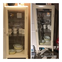 IKEA metal cabinet with glass shelves Edmonton, T5Y 3G2