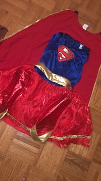 Girls supergirl Halloween costume large from party cotu Vaughan, L4H 2V4