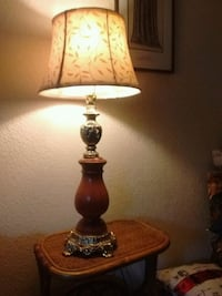 Antique sell brass and Wood Lamp for the silk shad Victoria, V8T 3Y9