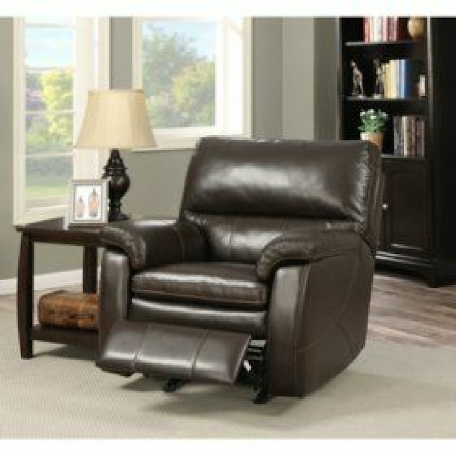 Crawford Top Grain Leather Recliner With Usb Ports In Santa  ~ Crawford Top-grain Leather Reclining Sofa