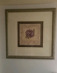Large floral print wall decoration