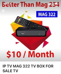 Iptv box service both available we do home installation  Brampton, L7A 0B6