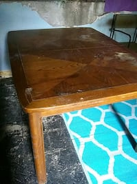 brown wooden framed glass top table Edmonton, T5W 2P3