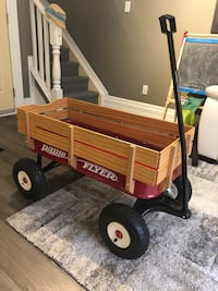 red and brown Radio Flyer wagon Toronto, M6E 5B1