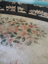 Antique14'x10'  handmade black and beige pink  floral  rug Tampa, 33647
