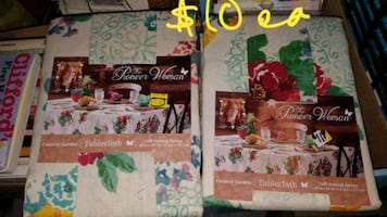 New pioneer woman table cloths