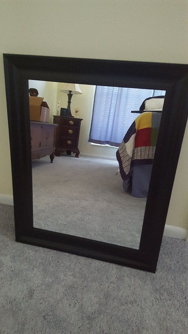 New Black Framed Mirror
